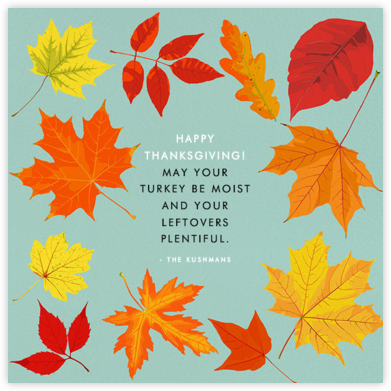 Autumn Leaves - Hannah Berman - Thanksgiving Cards