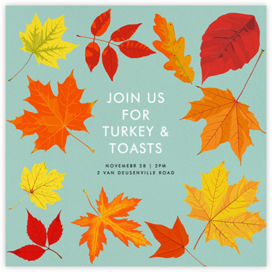 Autumn Leaves - Hannah Berman - Autumn entertaining invitations