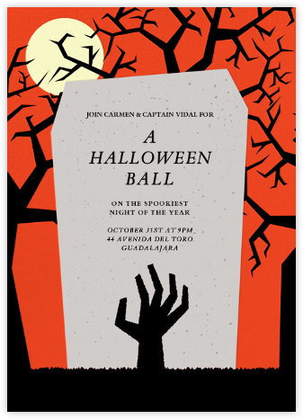 The Living Dead - Paperless Post - Halloween invitations