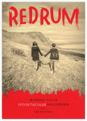 Redrum - Paperless Post - Halloween cards