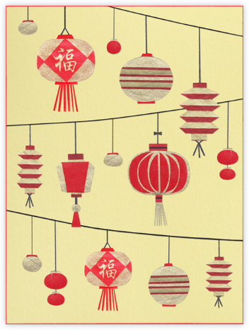 Chinese Lanterns - Paperless Post - Lunar New Year cards