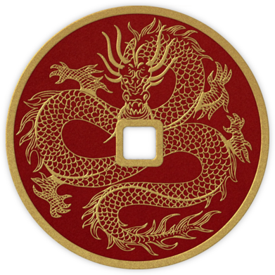 Dragon Coin - Cardinal - Paperless Post - Lunar New Year cards
