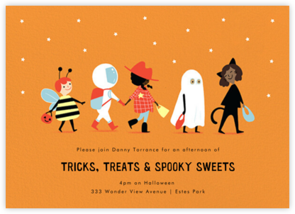 Costume Parade - Paperless Post - Halloween invitations