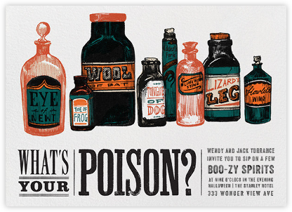What's Your Poison - Paperless Post -