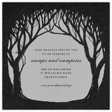 The Woods are Lovely - Paperless Post - Halloween invitations