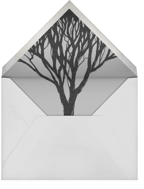 The Woods are Lovely - Paperless Post - Halloween - envelope back