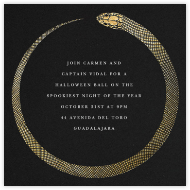 Ouroboros - Gold - Paperless Post - Halloween invitations