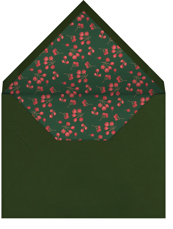 English Holly Border - Horizontal - Paperless Post - Personalized stationery - envelope back