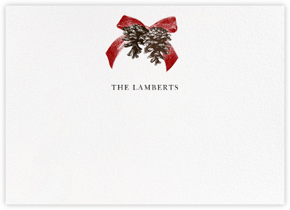 Winter Pine (Horizontal) - Red - Paperless Post - Personalized Stationery