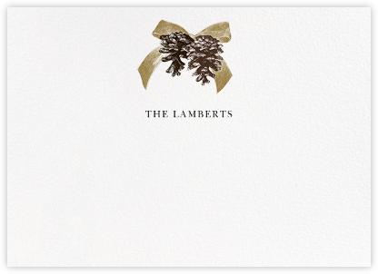 Winter Pine (Horizontal) - Sepia - Paperless Post -
