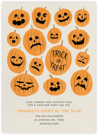 Pumpkinheads - Paperless Post - Halloween invitations