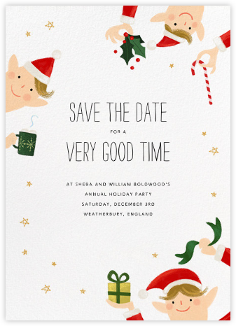 Little Elves - Bellini - Paperless Post - Holiday Save the Dates