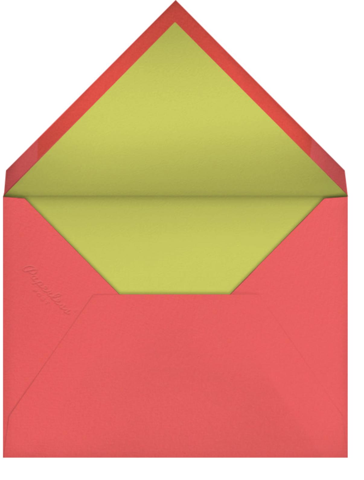 Princess Castle - Teal - Petit Collage - Kids' birthday - envelope back