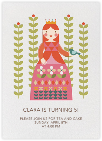 Princess and Flora - Fair - Petit Collage - Online Kids' Birthday Invitations