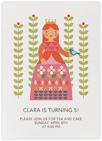 Princess and Flora - Petit Collage - Online Kids' Birthday Invitations