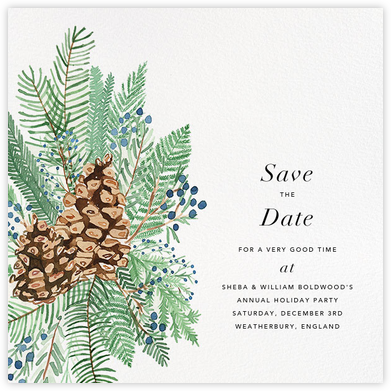 Juniper and Pine - Paperless Post - Holiday save the dates