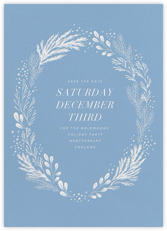 Winter Garden - Paperless Post - Holiday Save the Dates