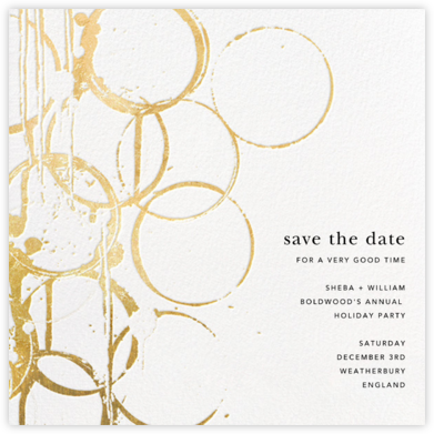 Bottle Shock - Gold - Kelly Wearstler - Save the dates