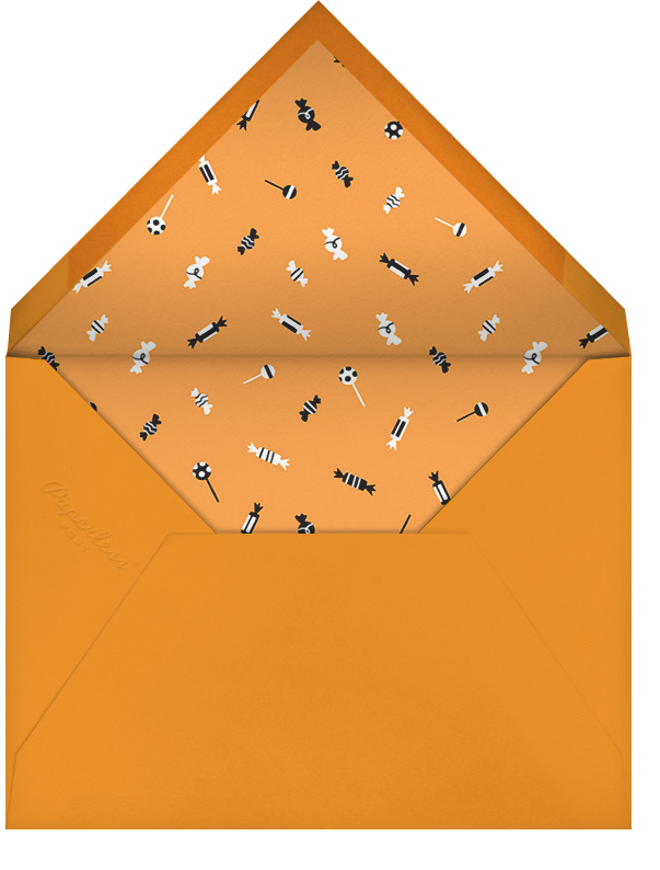 Candy Bucket - White - Paperless Post - Halloween - envelope back