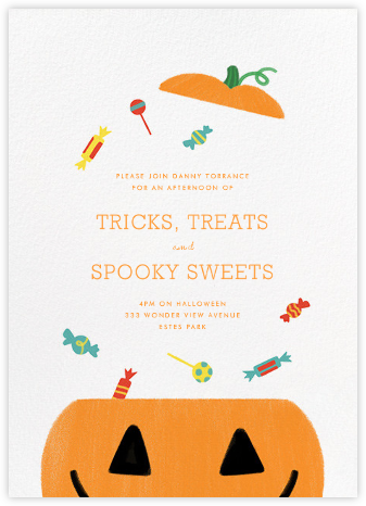 Candy Bucket - White - Paperless Post - Halloween invitations