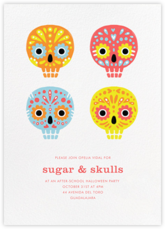 Little Sugar Skulls - Paperless Post - Halloween invitations