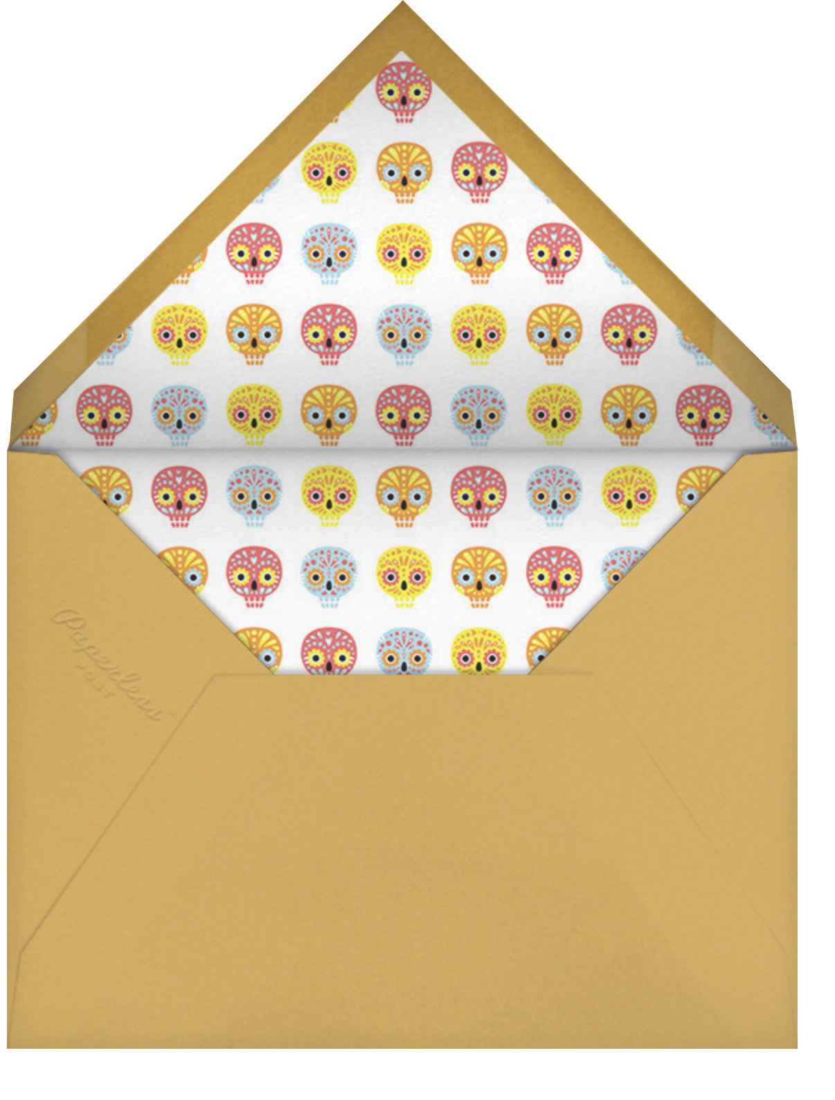 Little Sugar Skulls - Paperless Post - Halloween - envelope back