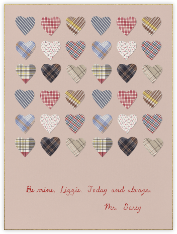 Plaid Hearts - Paperless Post -