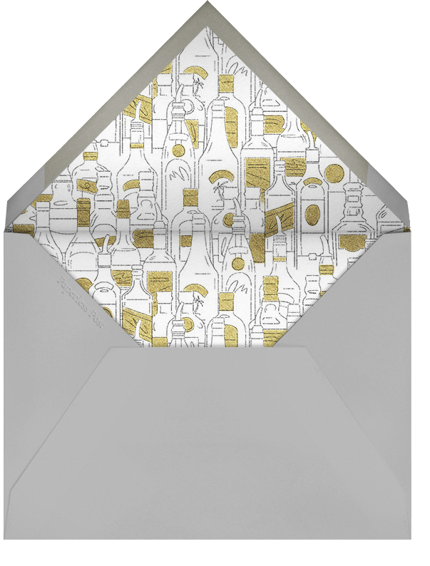 Behind the Bar - Paperless Post - Engagement party - envelope back