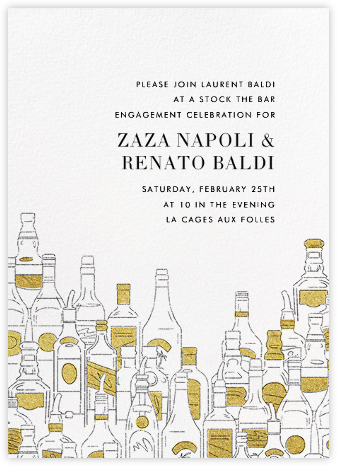 Behind the Bar - Paperless Post - Engagement party invitations