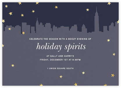 Chrysler Skyline - Gold - Paperless Post - New Year's Eve Invitations