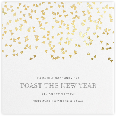 Confetti Cannon - Gold - Paperless Post - New Year's Eve Invitations