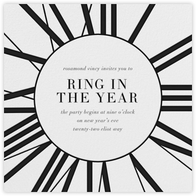 Longcase Clock - Paperless Post - New Year's Eve Invitations