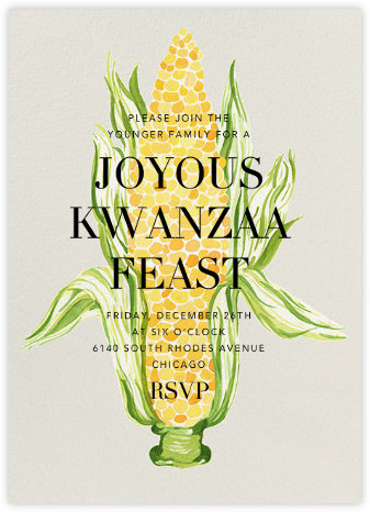 Silk and Husk - Paperless Post - Kwanzaa Invitations