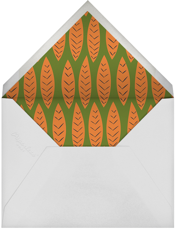 Gobble Up A Good Time - Crate & Barrel - Thanksgiving - envelope back