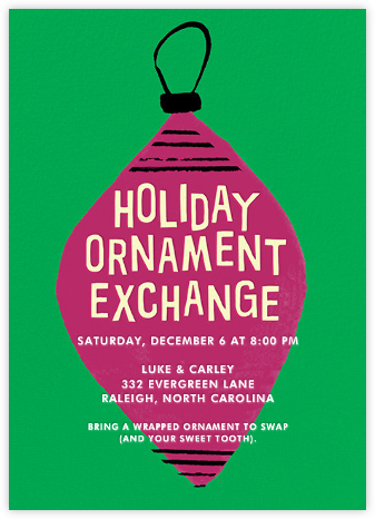 Ornament Exchange - Crate & Barrel - Invitations