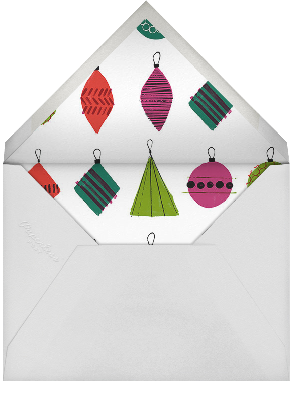 Ornament Exchange - Crate & Barrel - Christmas party - envelope back