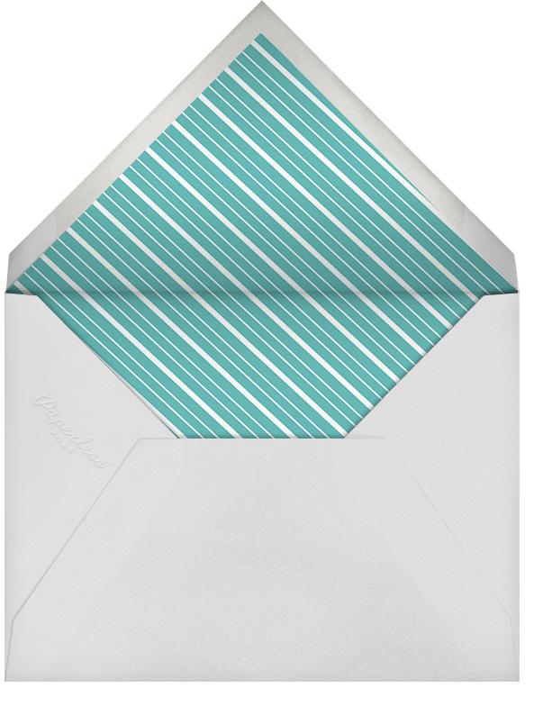 Lanterns - Teal - Paperless Post - Adult birthday - envelope back