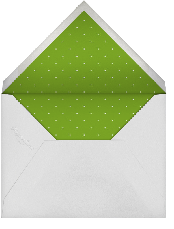 Umbrellas - Green - Paperless Post - Bridal shower - envelope back