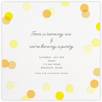 Carnaby - Yellow - Paperless Post - Online Kids' Birthday Invitations