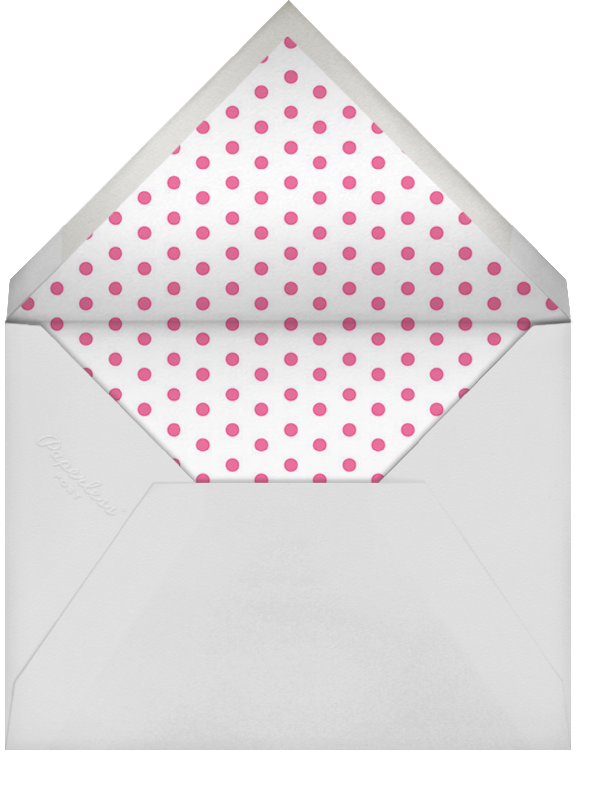 Carnaby - Pink - Paperless Post - Kids' birthday - envelope back