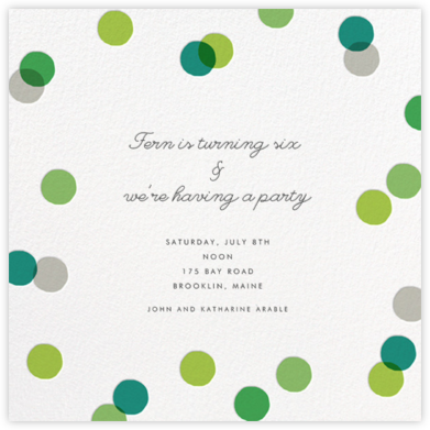 Carnaby - Green - Paperless Post - Online Kids' Birthday Invitations