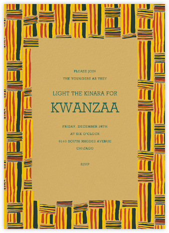 Kente - Paperless Post - Kwanzaa Invitations