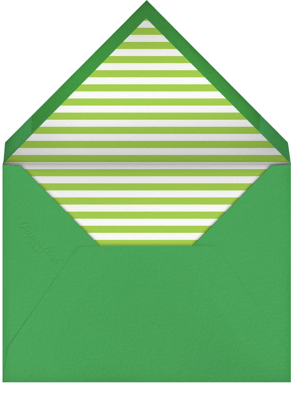 Carnaby - Green - Paperless Post - Adult birthday - envelope back