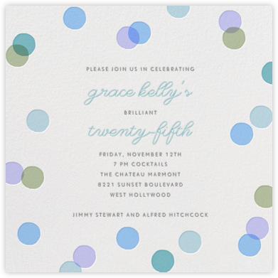 Carnaby - Light Blue - Paperless Post - Adult Birthday Invitations