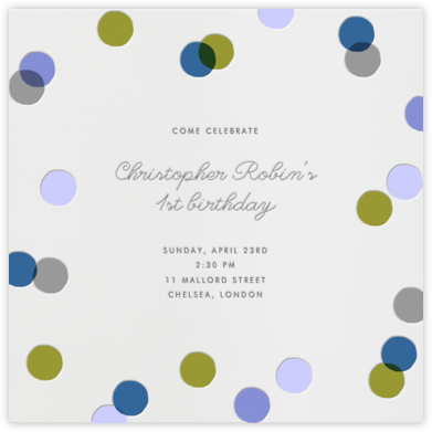 Carnaby - Blue - Paperless Post - First Birthday Invitations