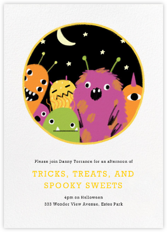 Party Monsters - Paperless Post - Halloween invitations