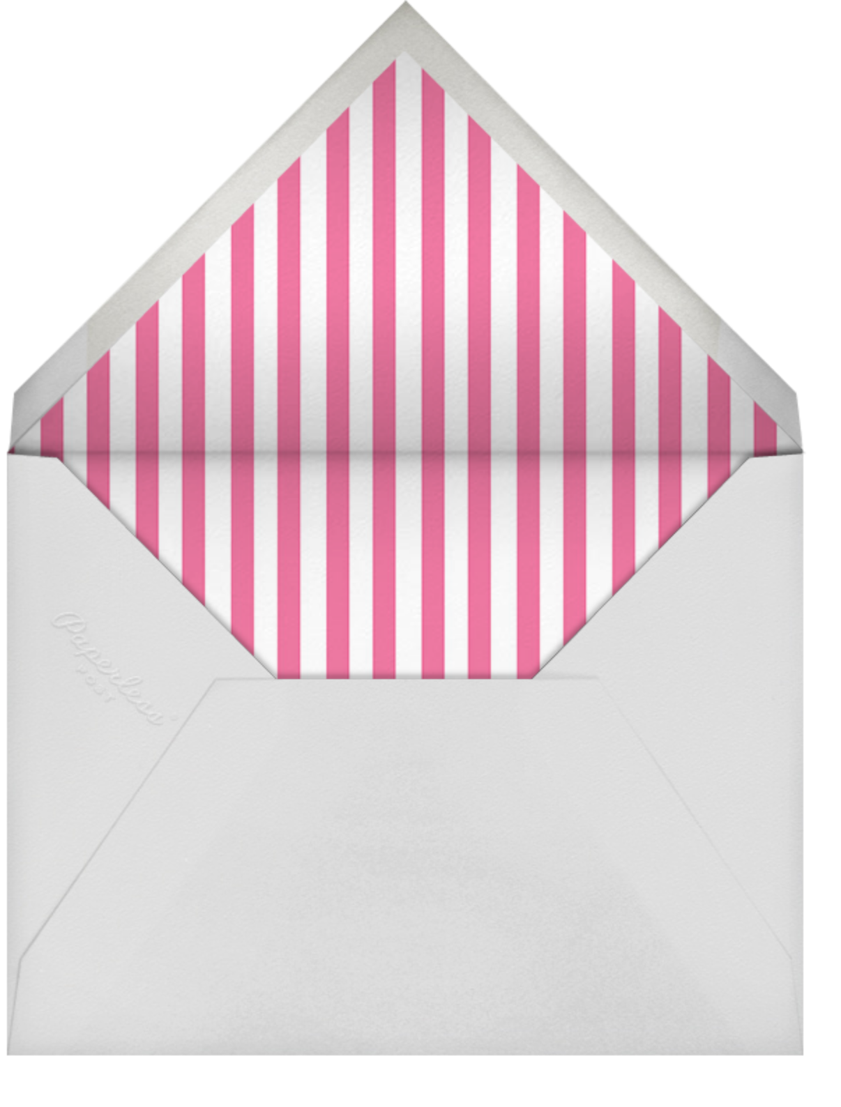 Carnaby - Pink - Paperless Post - 1st birthday - envelope back
