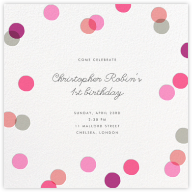 Carnaby - Pink - Paperless Post - First Birthday Invitations