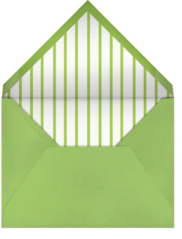 Carnaby - Green - Paperless Post - Baby shower - envelope back