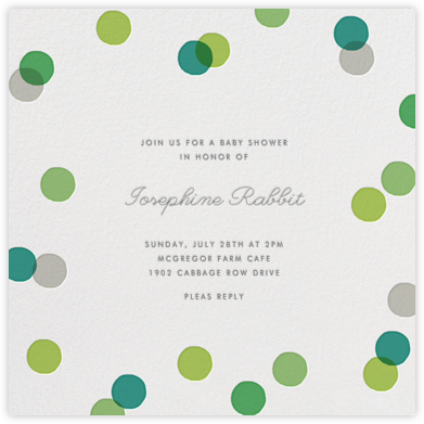 Carnaby - Green - Paperless Post - Baby Shower Invitations